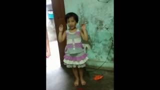 Cute little girl dancing(papa mere papa)