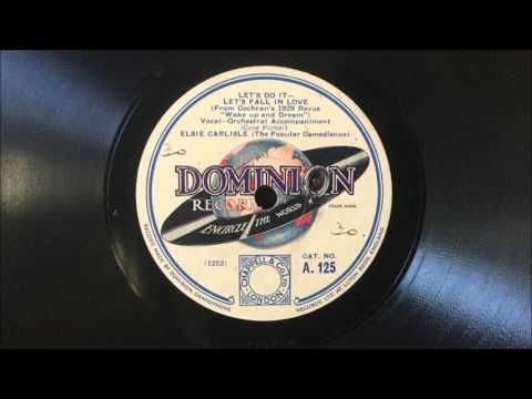 "Elsie Carlisle - ""Let's Do It – Let's Fall in Love"" (1929)"