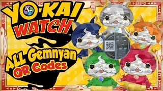 Yo-Kai Watch - ALL 5 Gemnyan / Jewelnyan QR Codes for U.S. and EU! [Tips & Tricks]