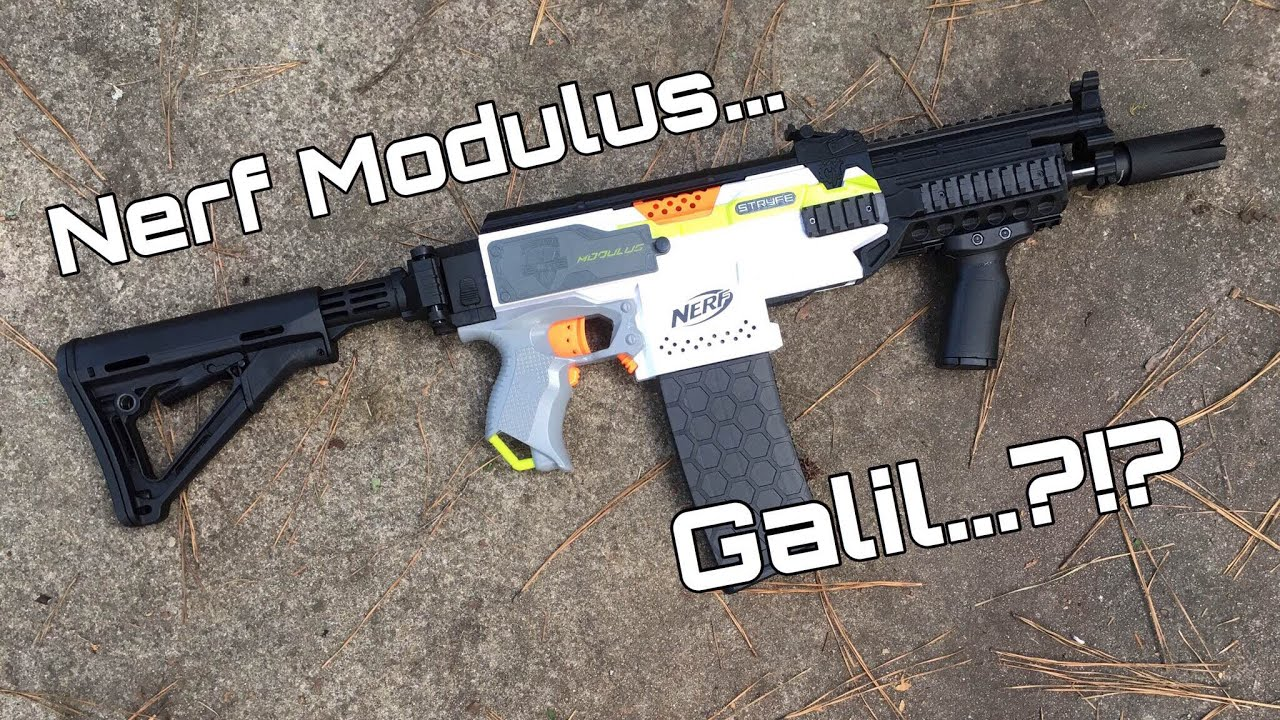 nerf modulus galil from cod black ops youtube
