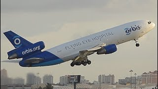Download Video {TrueSound}™ Orbis Flying Eye Hospital DC-10 / MD-10 Takeoff from Ft. Lauderdale MP3 3GP MP4
