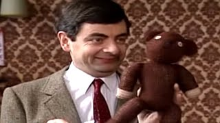 Teddy as a Paintbrush | Mr. Bean Official