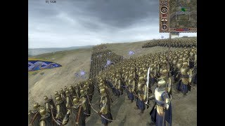 2500 Elves vs 5000 Orc | Third Age Total War