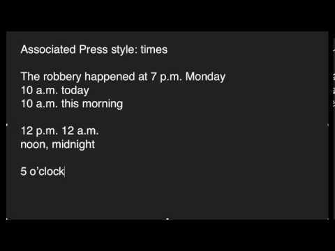 AP Style: Times