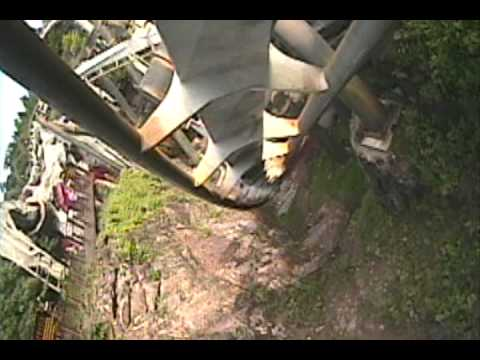 Nemesis Roller Coaster POV Front Seat Alton Towers UK England Inverted B&M Onride