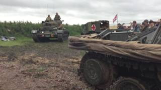 British Cromwell, Valentine & Comet Tanks At Yorkshire WArtime Experience 2016
