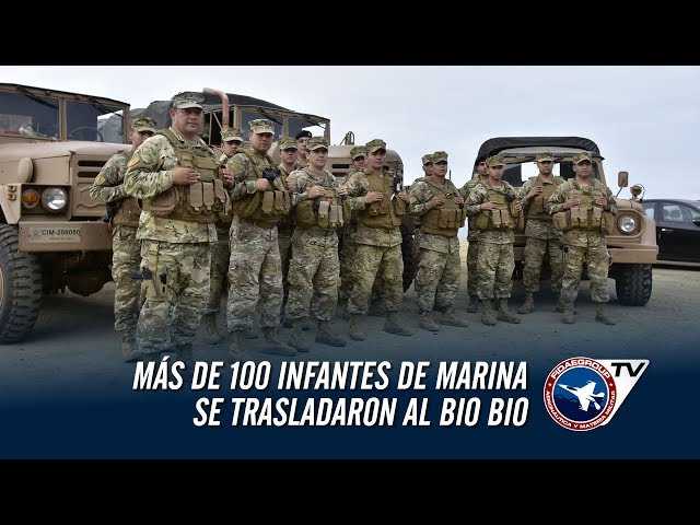 """Más de 100 Infantes de Marina se trasladaron al Bio Bio en la Barcaza """"Rancagua"""