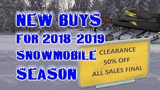 New Buys for 2018-2019 Snowmobile Season