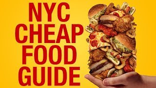 Gambar cover NYC CHEAP Food Guide- 13 AFFORDABLE Places That Taste GOOD in New York City !