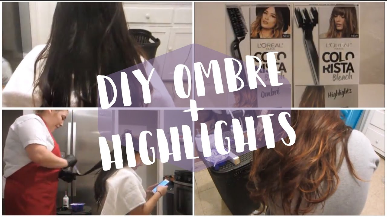 LOral COLORISTA Ombr Highlights Hair Results YouTube