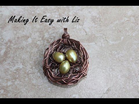 Wire-work Bird's Nest Pendant