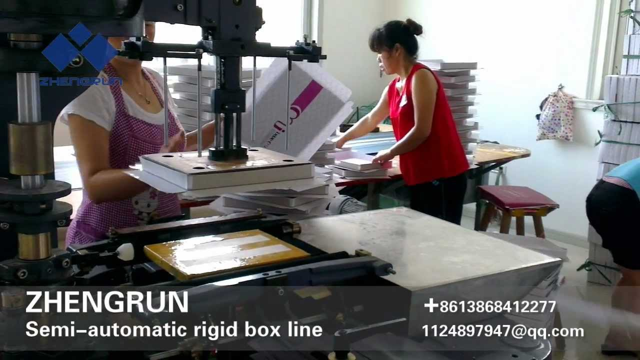 ZHENGRUN Semi-automatic Gift box making machine lines by Blake Xue