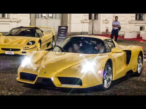 Incredible Truck Loaded with all Ferrari Best Ever Cars: LaFerrari, Enzo, F50, F40, GTO.