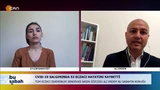 2021-05-14 - TEİS - CanTV - Bu Sabah - Ecz Ali Erdem - Pandemide Eczacılık
