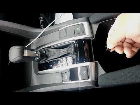 2017 Honda civic stuck in park shift release