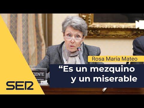 """Rosa María Mateo, al portavoz del PP: """"Es usted un mezquino y miserable"""""""