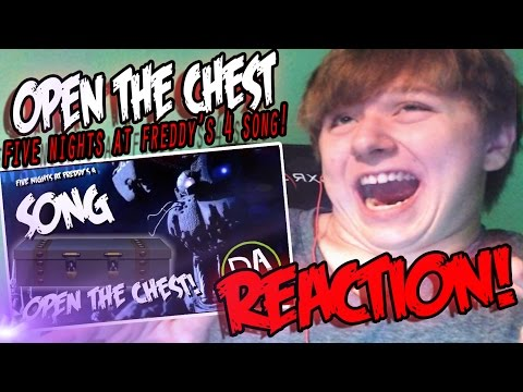 FIVE NIGHTS AT FREDDY'S 4 SONG (OPEN THE CHEST) LYRIC VIDEO REACTION! || SECRETS REVEALED!