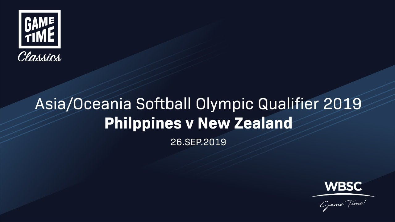 Philippines v New Zealand - Asia/Oceania Softball Olympic Qualifier 2019