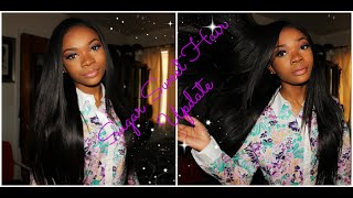 THOROUGH HAIR UPDATE: Sugar Sweet Hair Peruvian Body Wave Straightened!