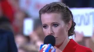 Собчак спросила о Навальном , а Путин сравнил Навального с Саакашвили