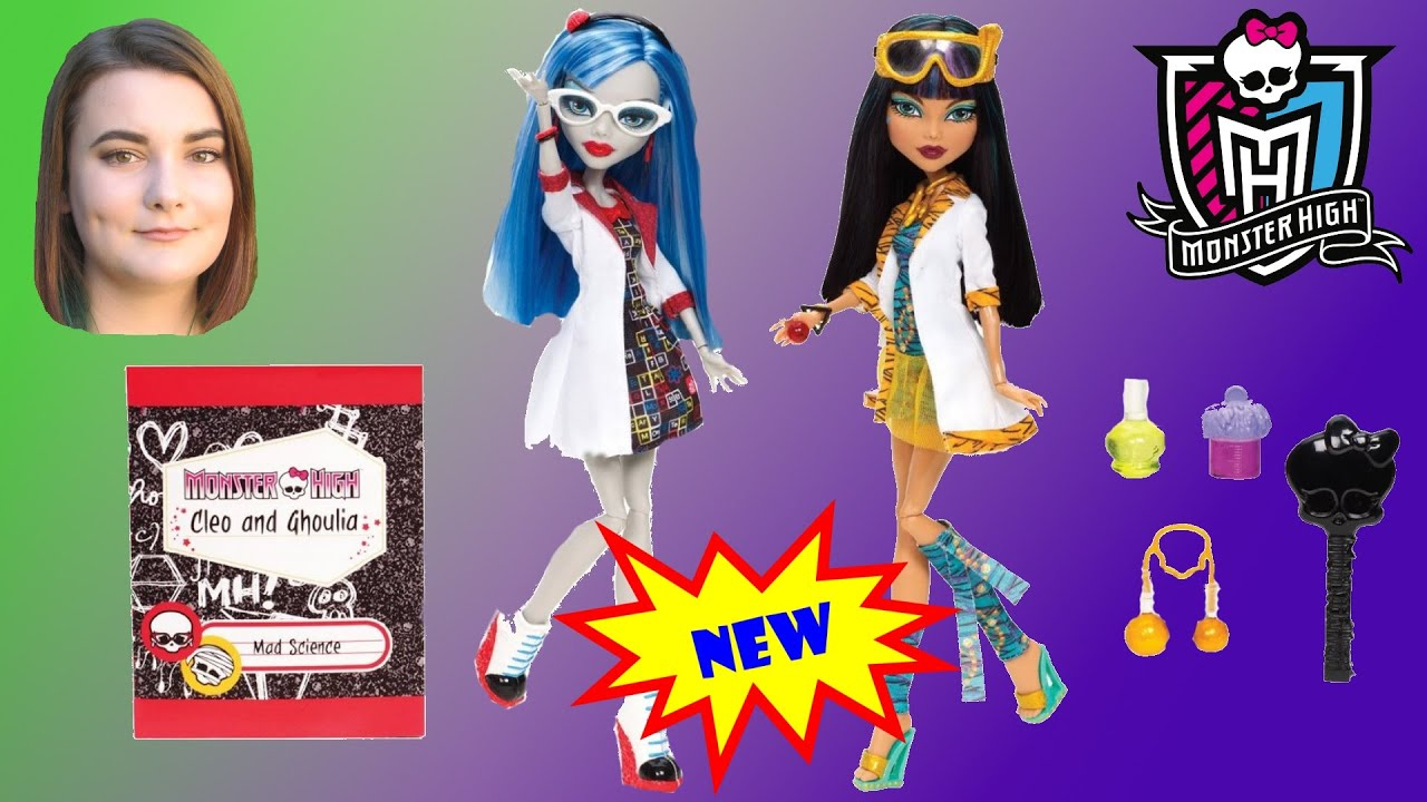 6a83299fe0f2 Monster High Cleo De Nile   Ghoulia Yelps Dolls From Mad Science ...