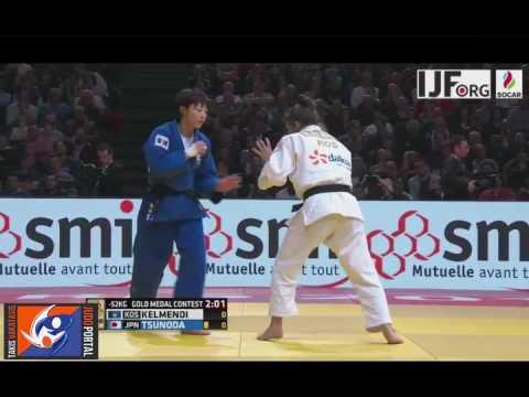 Judo Grand Slam Paris 2017 Final -52kg KELMENDI Majlinda (KOS) vs. TSUNODA Natsumi (JPN)