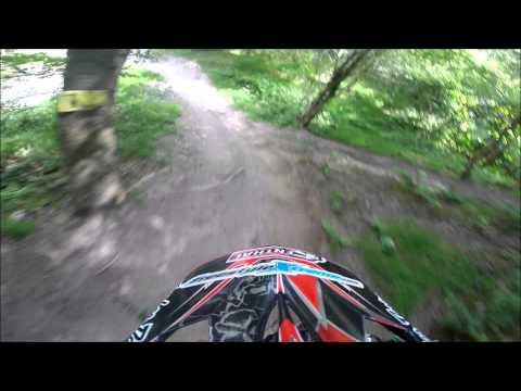 Rob Smith Following Matt Simmonds Down Farr Side Revolution Bike Park