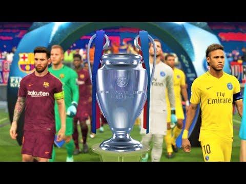 UEFA Champions League 2018 Final   PSG vs Barcelona   PES 2018 Gameplay HD