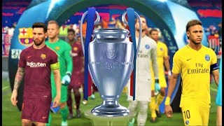 UEFA Champions League 2018 Final | PSG vs Barcelona | PES 2018 Gameplay HD