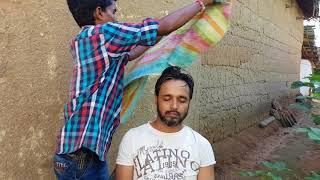 ASMR outdoor head massage in village | A MUST WATCH VIDEO