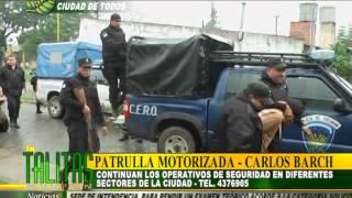 OPERATIVOS DE SEGURIDAD   PATRULLA MOTORIZADA LAS TALITAS