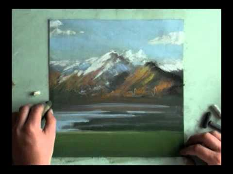 Black And White Oil Painting Landscape