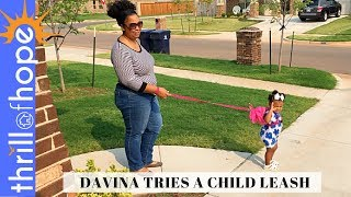 DAVINA TRIES A CHILD LEASH [FAMILY VLOG, DAILY VLOG, CHRISTIAN VLOGGERS, VLOGGERS, VLOG FAMILY]