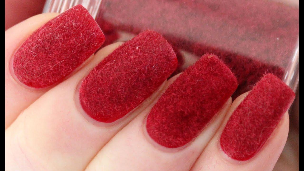 velvet nails with flocking powder