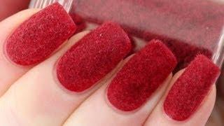 Velvet Nails with Flocking Powder Tutorial