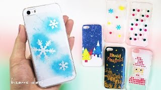 6 Easy Christmas Phone Case Ideas DIY gifts | c for craft