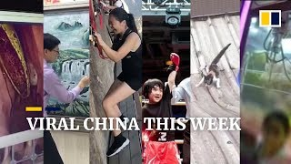 Viral China This Week: China's sky-high cliffside path, and much more