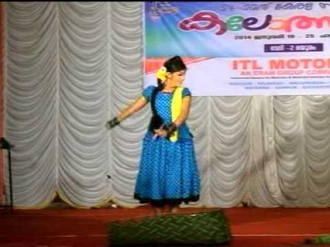 Kerala State school Kalolsavam 2014 held at Palakkad - Folk Dance by Anna Mary(Nayika)