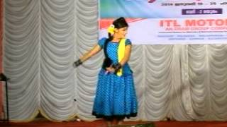 Kerala State school Kalolsavam 2014 held at Palakkad - Folk Dance by Anna Mary(Nayika)