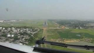 Flyglobespan operating for GMG Airlines. B737-800 Landing at Dhaka, Bangladesh.