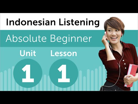 Indonesian Listening Practice - At an Indonesian Bookstore