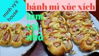 #31 bánh mì xúc xích-cách làm bánh mì mặn tại nhà-cuộc sống hàn quốc