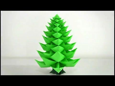 Como hacer un arbol de navidad de papel origami navideno