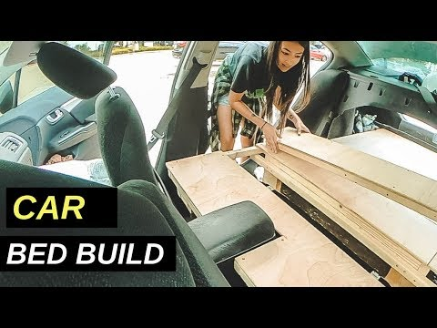 Living In A Car: Honda Civic Bed Build