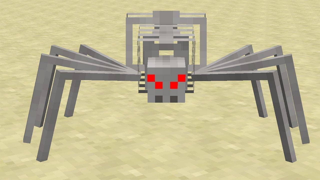 Minecraft NetherEx Mod - İskelet Örümcek