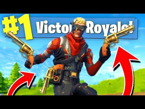 WINNING With ONLY REVOLVER Pistols in Fortnite Battle Royale!