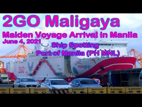 2GO Maligaya Maiden Voyage Arrival in Manila   Ship Spotting North Harbor Manila Philippines PH MNL