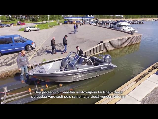 Veneen trailerointi –Buster veneilykoulu