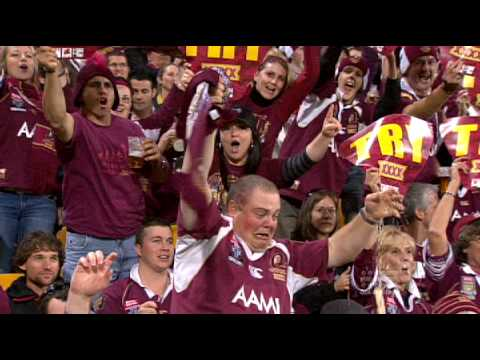 MAN DROPS BEER STATE OF ORIGIN 2009 - Whats Doing - Footy Show NRL 10 09 09 in Full