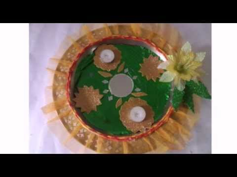 Puja thali mashpedia free video encyclopedia for Aarti thali decoration with rice